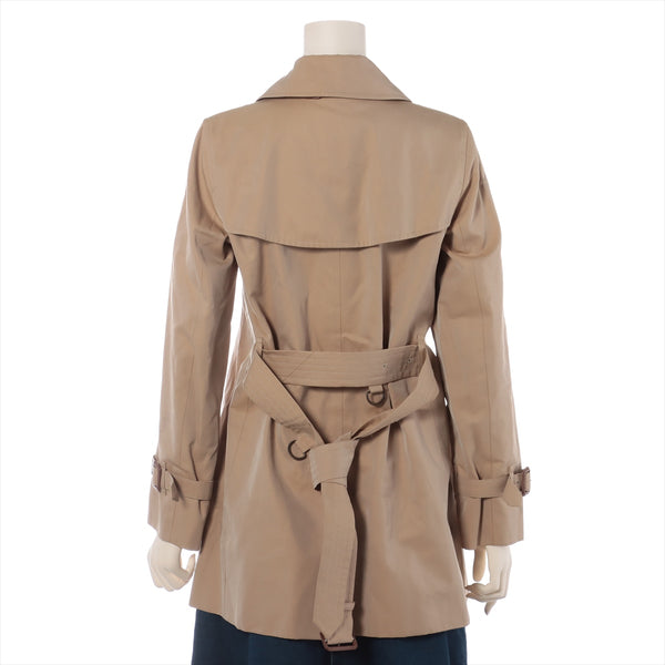 Burberry London Cotton Trench Coat 36 Ladies Beige