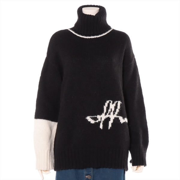 Off-White Wool Knit 42 Ladies Black OWHF008E20KNI001|RANK:A