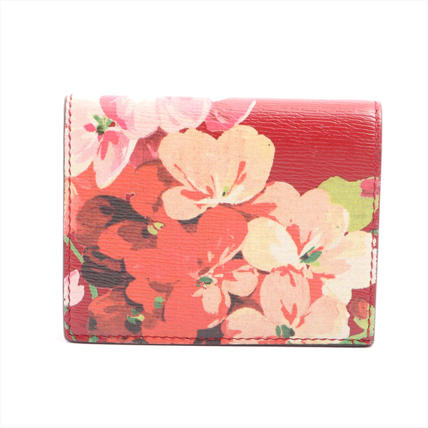 Gucci GG Flora 410120 Leather Wallet Red