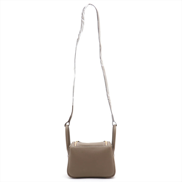 Hermes Mini Lindy Taurillon Clemence Etup Gold Metal Y: 2020