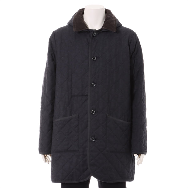 Mackintosh Wool Coat 46 Men's Gray Quilting