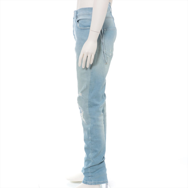 Kiss Cotton Denim Pants 33 Men's Light Blue