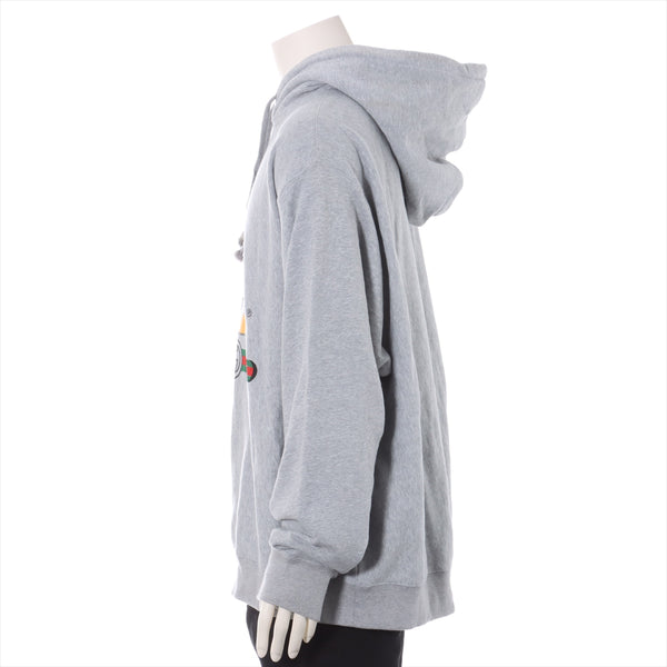 Gucci x Disney 20 Stainless Steel Cotton Hoodie XL Men's Gray Mickey
