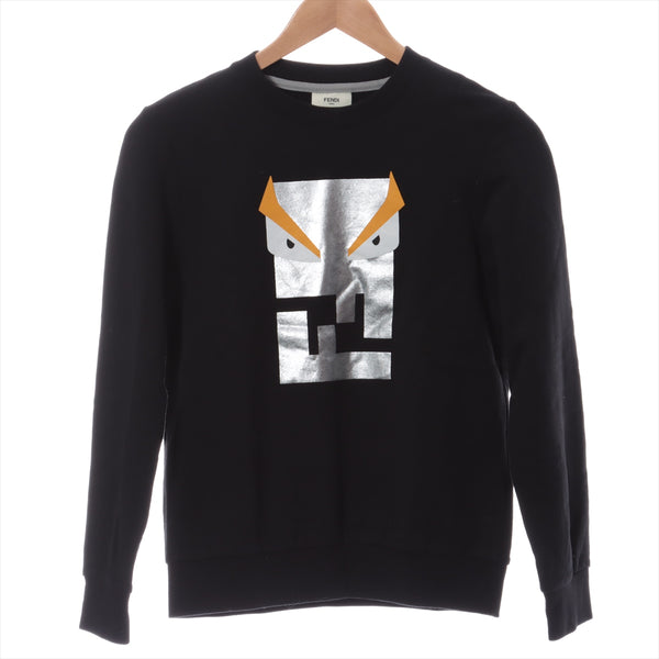 Fendi Monster Cotton x Rayon Sweatshirt 12A Kids Black