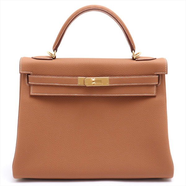 Hermes Kelly 32 Togo Gold Gold Metal Y: 2020