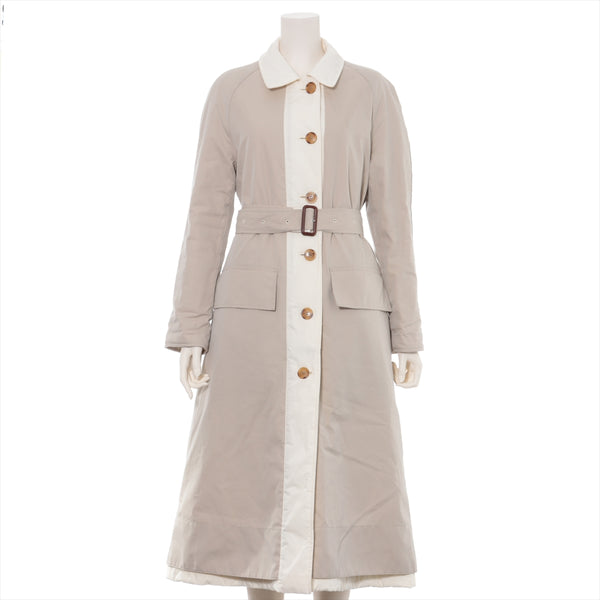 Burberry Cotton Batting Coat UK2 Ladies Beige Reversible