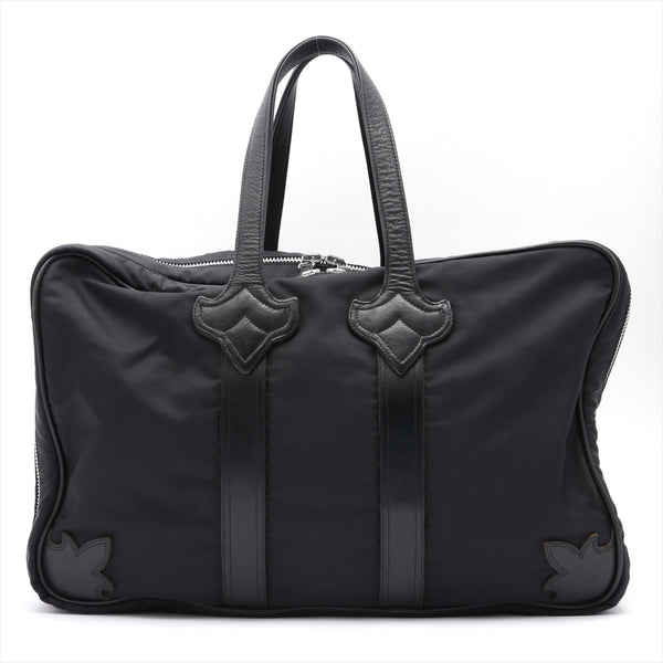 Chrome Hearts Duffel Boston Bag Nylon x Leather