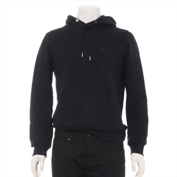 Dior Cotton Hoodie S Men's Black CD ICON 943J600A0531