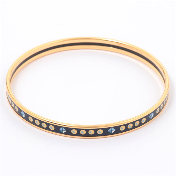 Hermes Email PM Bangle Gold Plated Gold Navy