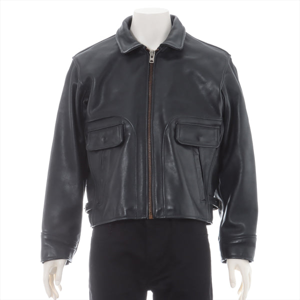 Banson Leather Leather Jacket 40 Men's Black