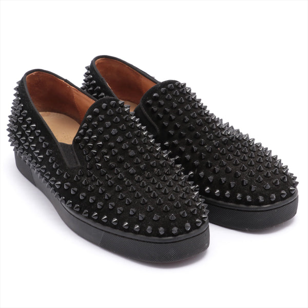 Christian Louboutin Fabric Slip-On 41 Men's Black Studs