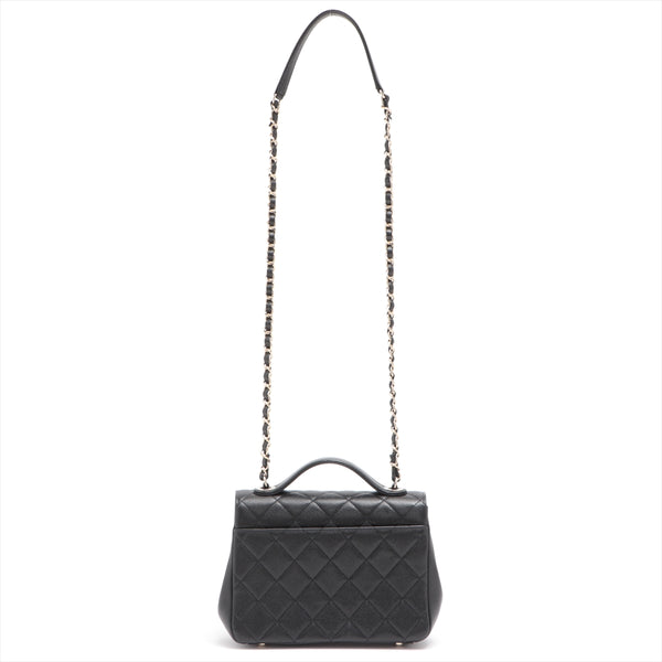 Chanel Matrasse Caviar Skin 2WAY Shoulder Bag Black SilverMetal 30s