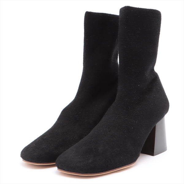 Celine Suede Boots 37 Women's Black Sole Repaired