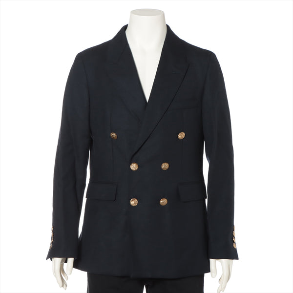 Burberry Wool Jacket 50 Men's Navy