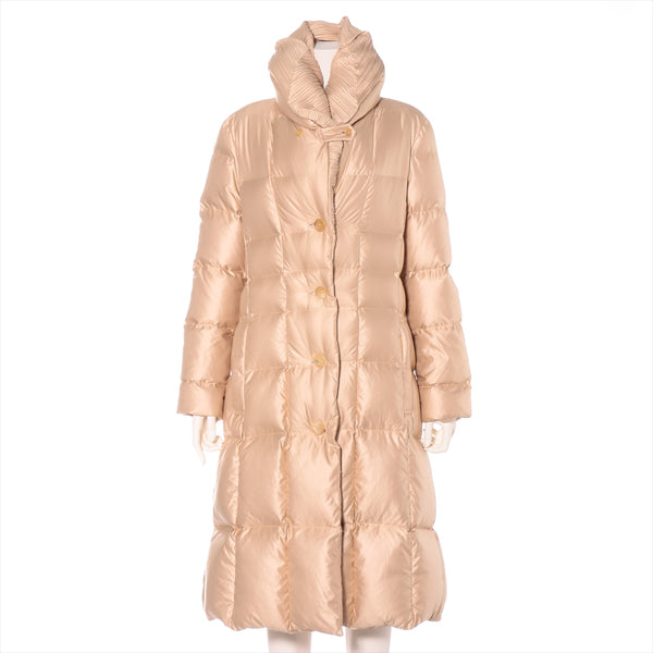 ISSEY MIYAKE Polyester Down Coat 2 Ladies Beige Pleated
