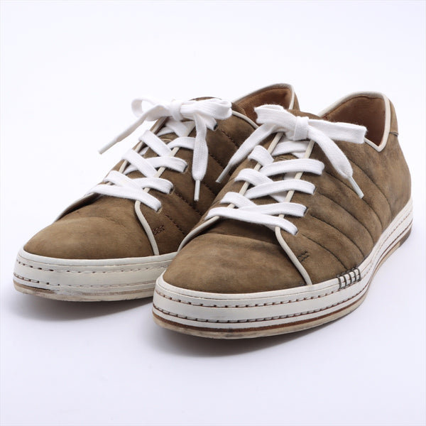 Berluti Playtime Suede Sneakers 10 Men's Khaki