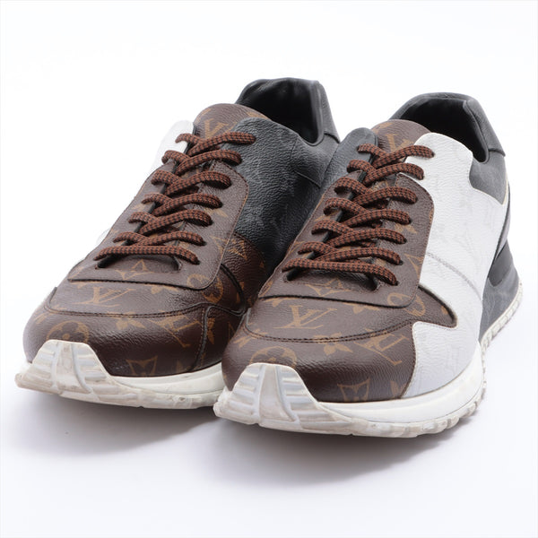 Louis Vuitton Runaway Line PVC Sneakers 12 Mens White x Brown Monogram