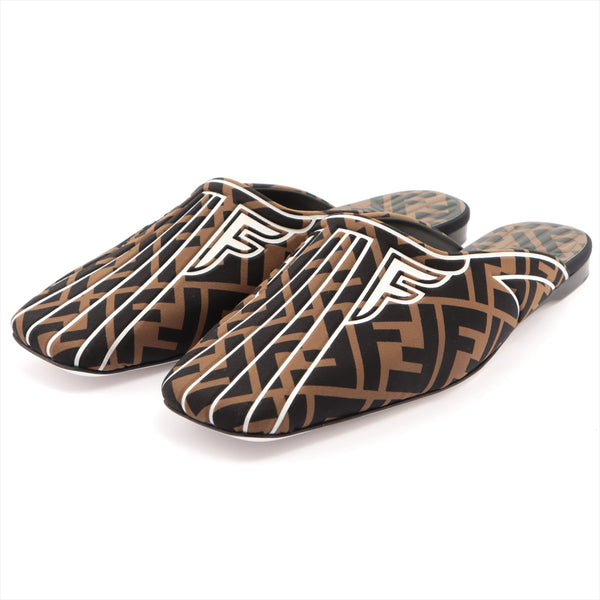 Fendi Fabric Mule 38 Ladies Brown