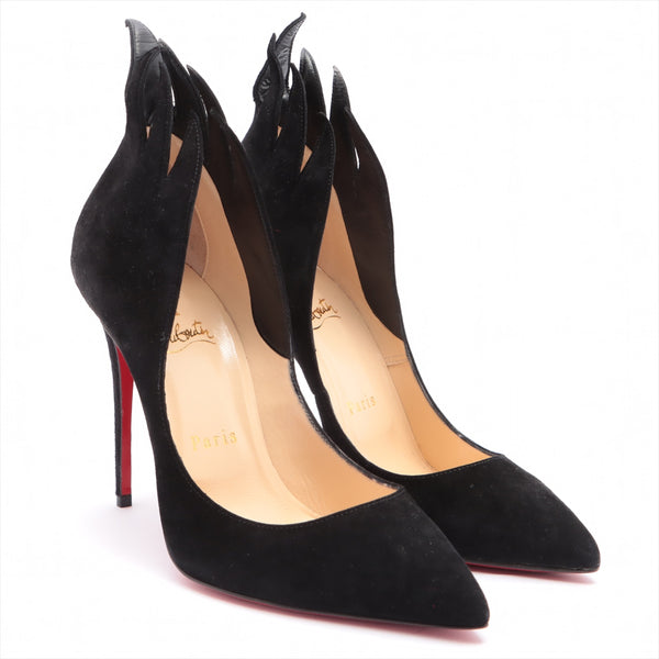 Christian Louboutin Suede Pumps 37 Ladies Black