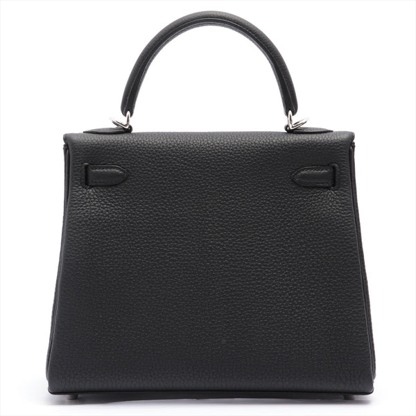 Hermes Kelly 25 Togo 2WAY Shoulder Bag Black SilverMetal Y: 2020