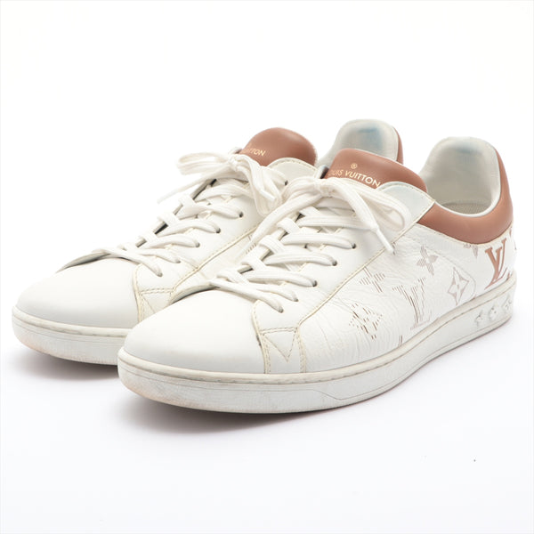 Louis Vuitton Luxembourg Line LD1129 Leather Sneakers 6.5 Men's White Monogram