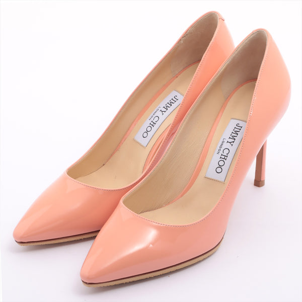 Jimmy Choo Patent Leather Pumps 38 Ladies Pink Half Rubber Available