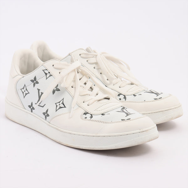 Louis Vuitton Rivoli Line MS0290 Leather Sneakers 8 Men's White Monogram