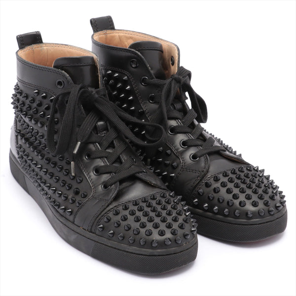 Christian Louboutin Lewis Spike Leather High Top Sneakers 43 Men's Black