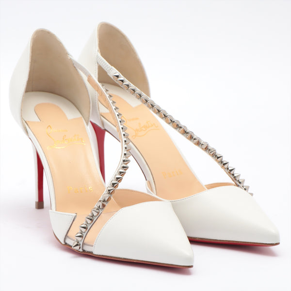 Christian Louboutin Leather Pumps 36.5 Women's White Spike Studs 3190738