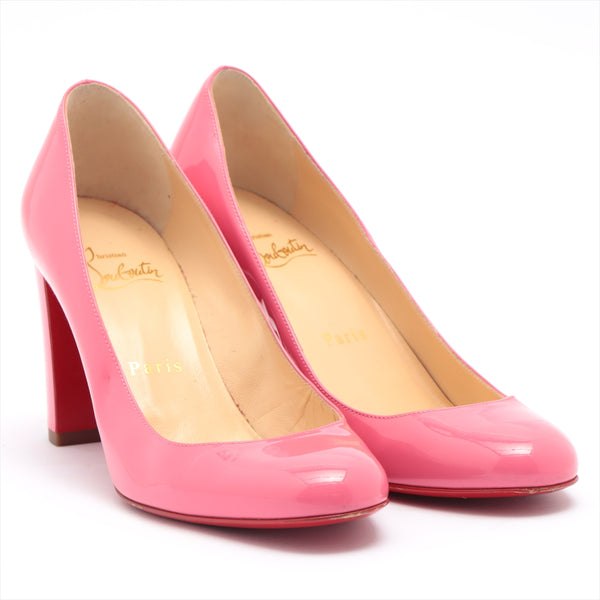 Christian Louboutin Patent Leather Pumps 35 1/2 Ladies Pink
