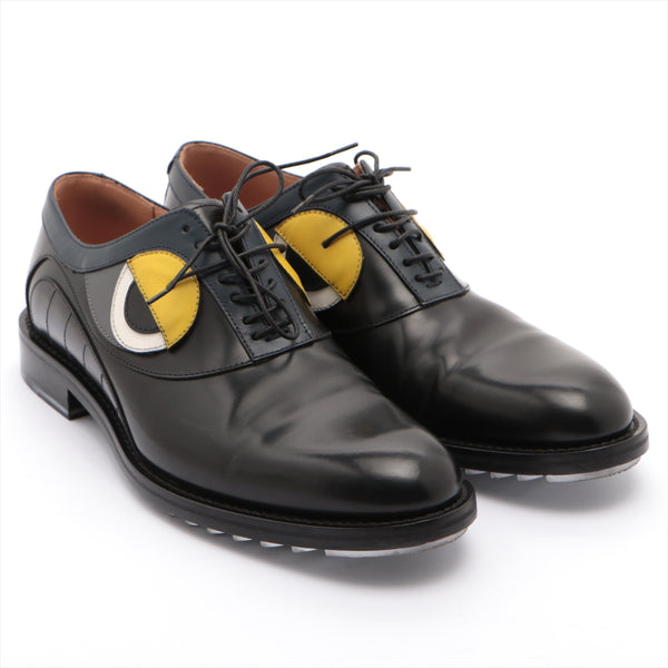 Fendi Monster Leather Leather Shoes 7 Men's Black|RANK:B