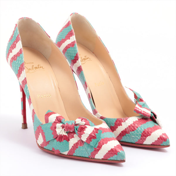 Christian Louboutin Leather Pumps 37.5 Ladies Multicolor