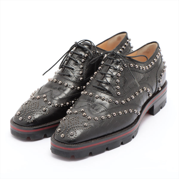 Christian Louboutin Studs Leather Leather Shoes 38 Women's Black