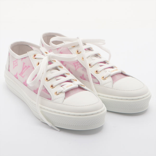 Louis Vuitton Stellar Line LD0290 Leather Sneakers 37.5 Ladies White Monogram|RANK:SA