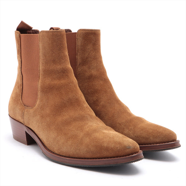Celine Suede Side Gore Boots 38 Ladies Brown Sole Repair Available