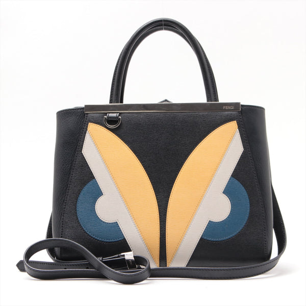 Fendi Toujour Monster 2WAY Handbag Black TH1910