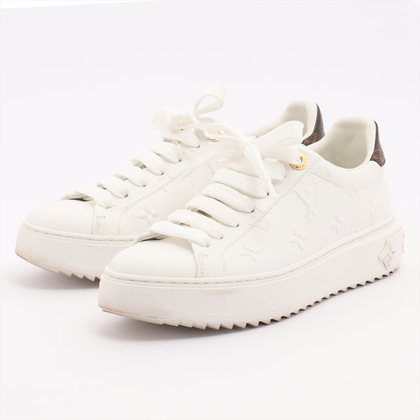 Louis Vuitton Timeout Line MS0230 Leather Sneakers 35 Ladies White|RANK:AB