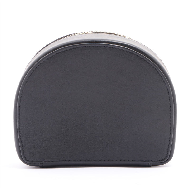 Chloe leather jewelry case black