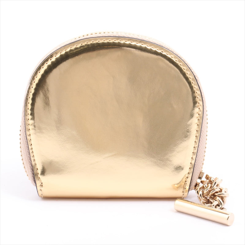Chloe leather accessory case gold