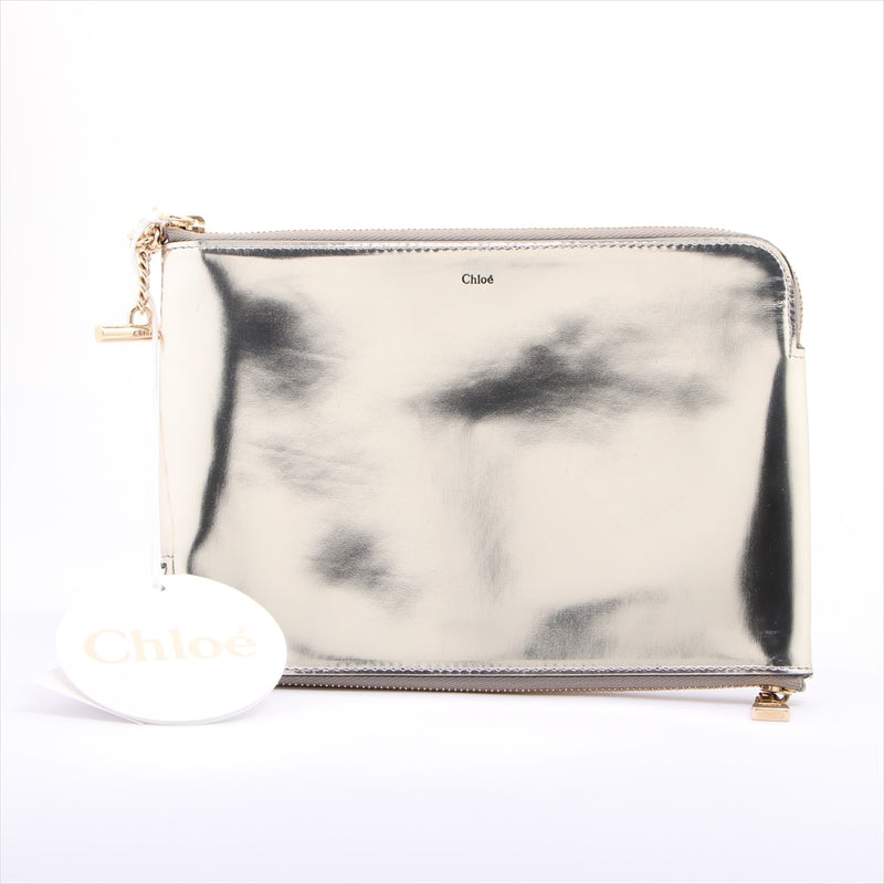 Chloe leather pouch Silver
