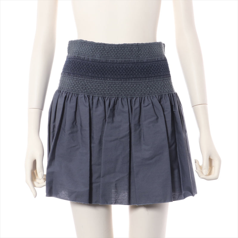 Chloe Cotton Skirt 36 Ladies Navy 2016