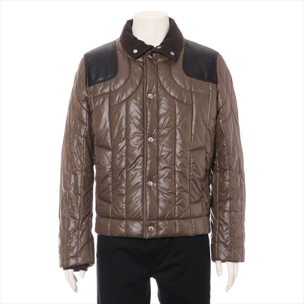 Vuitton nylon batting jacket men's khaki RM082M