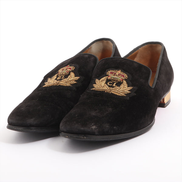 Christian Louboutin Suede Loafers 40 Men's Black Emblem
