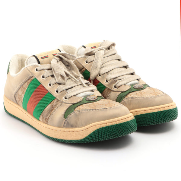 Gucci Canvas Sneakers 6 Men's Multicolor GG Canvas Distressed