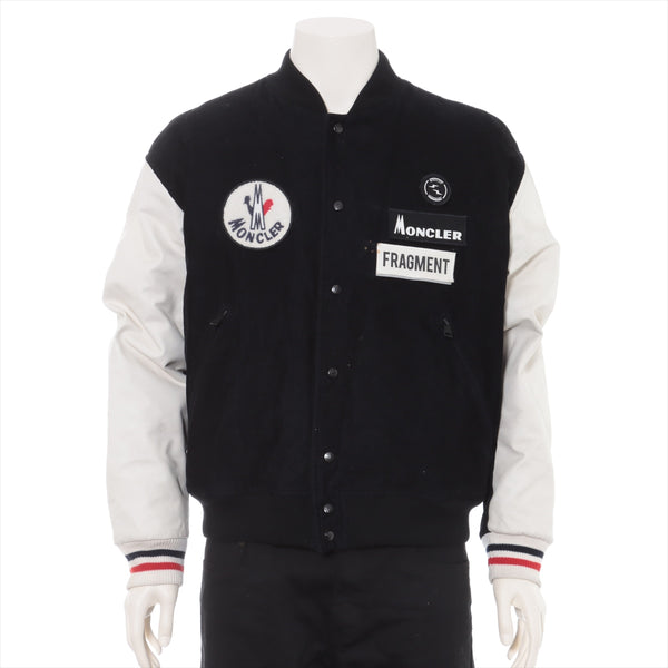 Moncler Genius Fragment SVEN 18 Years Corduroy Stajan 2 Mens Black x White Leather