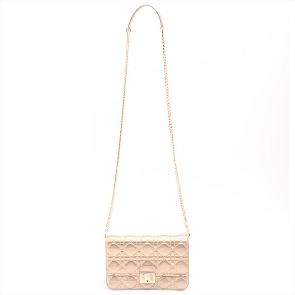 Christian Dior Canage Miss Dior Leather ChainShoulder Bag Gold
