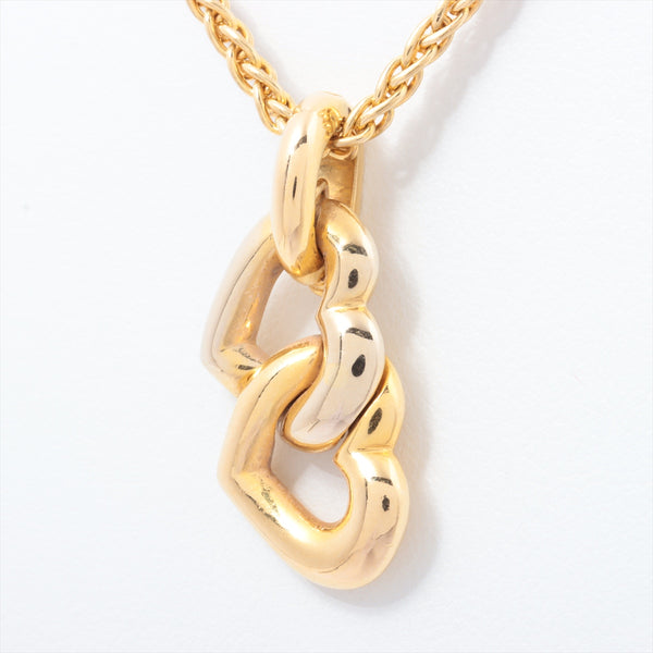 Cartier Cartier Double Heart Necklace 750YGxWG