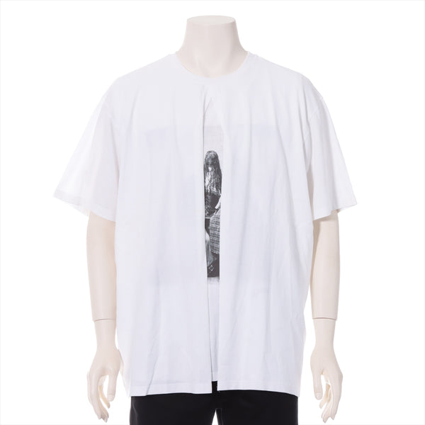 Burberry 20 Stainless Steel Cotton x Polyurethane T-shirt M Men's White Victorian Portrait Layered