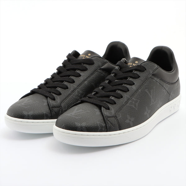 Louis Vuitton Luxembourg Line PVC x Leather Sneakers 5.5 Mens Black x Gray Monogram Eclipse MS0189
