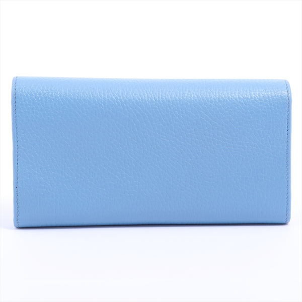 Gucci GG Marmont 456116 Leather Wallet Blue